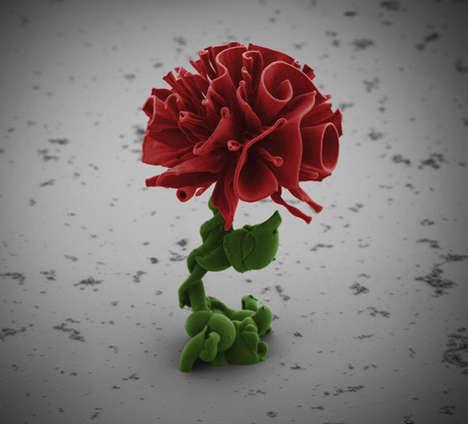 Delicate Microscopic Flowers