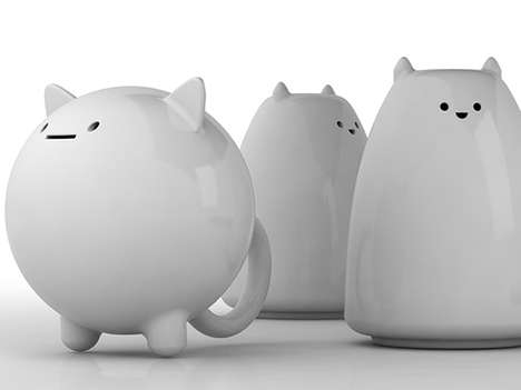 Chubby Feline Food Seasoners - These Fat Cat Shakers by Victor Barish Feature Rotund House Pets
