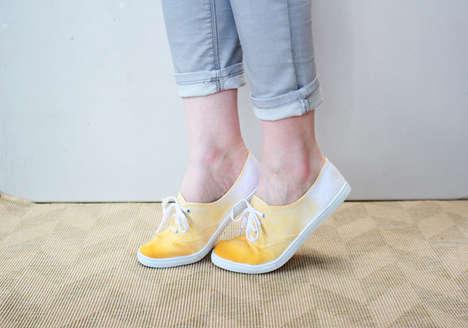 DIY Dip-Dye Sneakers
