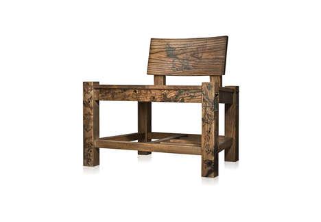 Tattooed Timber Chairs
