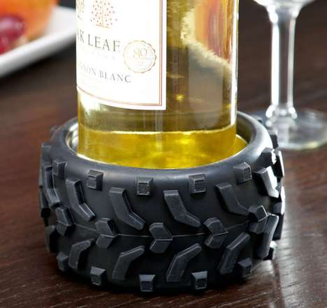 Big Wheel Wine Coasters