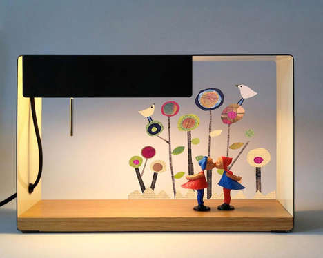 Illuminating Light-Up Shelves