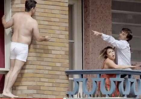 Highrise Infidelity Stunt Ads