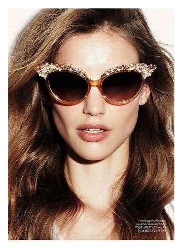 Sparkly Eyewear Editorials