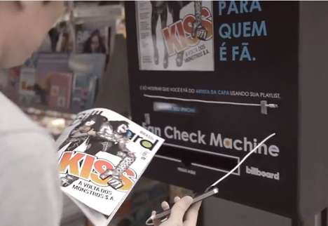 Fan-Spotting Magazine Dispensers - The 'Fan Check Machine' Gives Billboard Magazines to True Fans