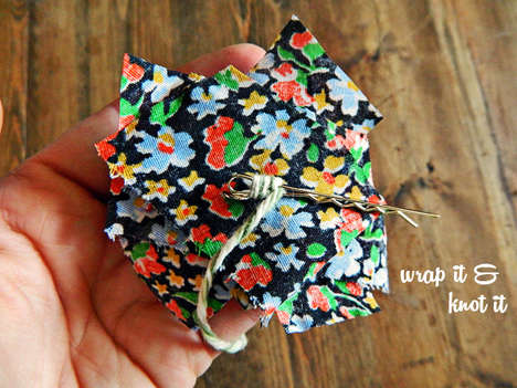 Layered Fabric Scrap Clips