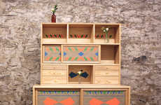 Geometrically Hand-Painted Furnishings
