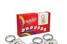 Wordy Board Game Charms - A Scrabble Keychain Comes in Any Letter of the Alphabet