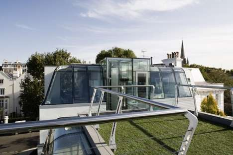 All-Glass Rooftop Abodes - The Glass Notting Hill Penthouse Features Elegant Design and Future Tech