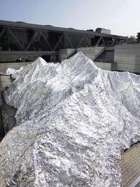 Shimmering Aluminum Mountain Art