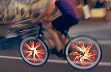 Animated Bike Wheel Accessories - Bicycle Wheels Will Look Much Cooler with the Monkey Light Pro