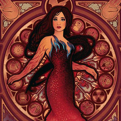 Fiery Heroine Illustrations