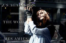 Homeless Flower Woman Editorials - The Scandinavia S/S/A/W 2013 Photoshoot Stars Codie Young