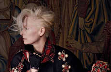 Scots-Inspired Fashion Ads - The Chanel Pre-Gall 2013 Paris-Edimbourg Campaign Stars Tilda Swinton