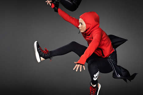 Jumping Sportswear Lookbooks - The Nike Women's FW13 Catalog Stars a Slew of Female Athletes