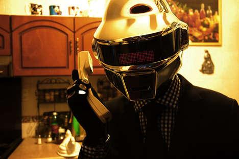 Futuristic Pop Icon Helmets