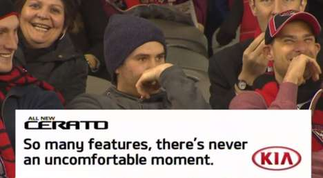 Spectator-Shaming Car Ads - A Kia Ad Embarrases a Spectator to Promote the Kia 'Cerato'