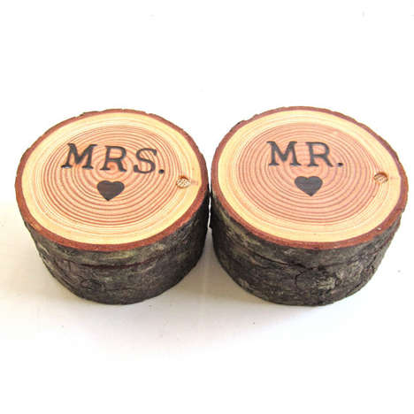 Woodland Ring Boxes - This Forest-Inspired Wooden Wedding Ring Bearer Box is Creatively Cute