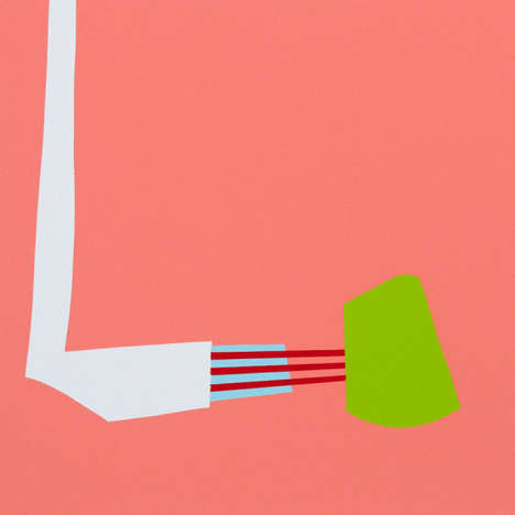 Vibrant Minimalist Paper Art