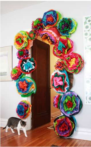 Tropical Tissue Blossoms - These Aunt Peaches DIY Fiesta Flowers Will Add an Exotic Twist to Decor
