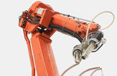 Artistic Sculpture-Building Robots - Mataerial is a Large Robot with Nozzles That Produce 3-D Art