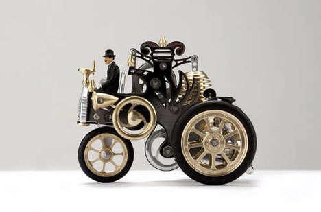 Striking Brass Engine Art
