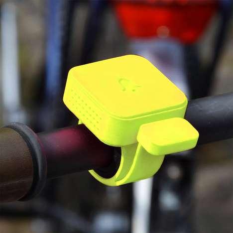 Vibrant Clip-On Bike Bells