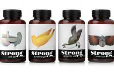 Illustrated Avian Supplement Packaging - Pearlfisher's Avian Packaging is Beautifully Minimalist