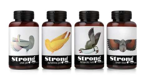 Illustrated Avian Supplement Packaging