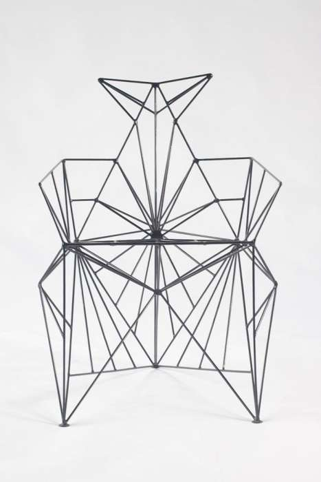 Sculptural Wireframe Seating - The Bat Chair by Baltasar Portillo is Geometrically Artistic