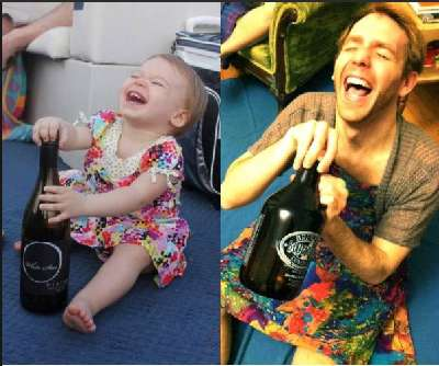 Re-Captured Child Photographs - The Man Who Recreates His Girlfriend's Baby Photos are Hilarious