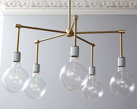 DIY Industrial Illuminators - Create Your Own Beautiful Brass Chandelier with this Basic Tutorial
