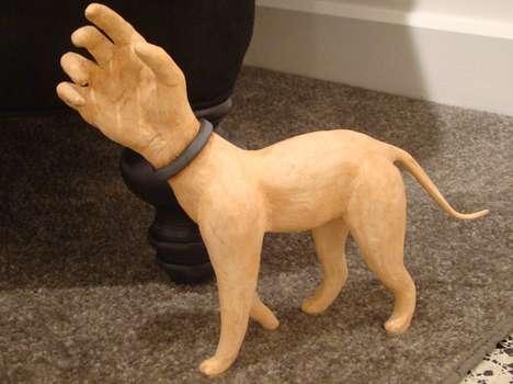 Hand-Headed Hound Sculptures