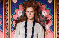 Vibrant Indian-Inspired Fashion - The New Madame Germany Ilva Heitmann Editorial is Richly Colorful