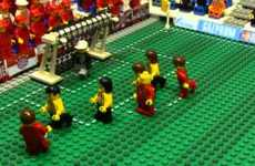 Building-Block Soccer Installations - The 2013 LEGO Champions League Game Was Recreated with LEGO