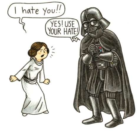 Jeffrey Brown Depicts a Struggling Darth Vader Father Figure