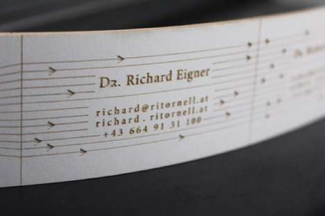 The Business Cards by Katharina Hölz Can Be Used to Play Music