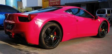 Outrageously Pink Super Cars - This Ferrari 458 Italia Receives a Vibrantly Feminine Makeover