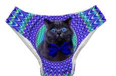 Cat Meme-Print Swimsuits