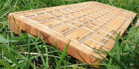 Wireless Wooden Keyboards
