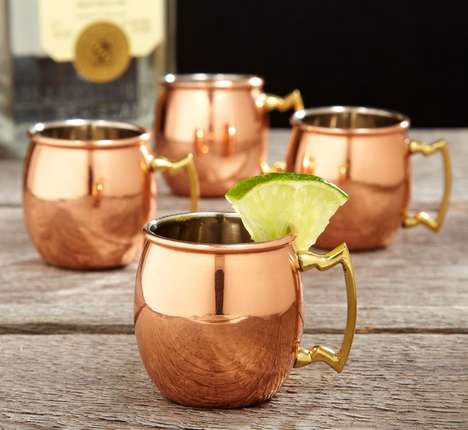Cultural Copper Shot Glasses - These Shooters Were Inspired by a Moscow Tradition for Drinking