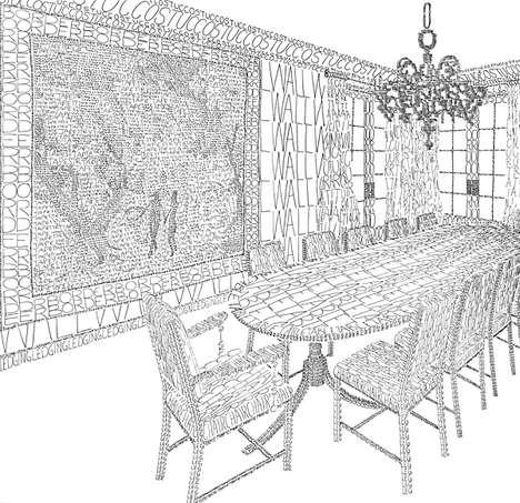 Literal Room Illustrations
