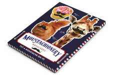 Moustached Animal Notepads - Moustachionary is a Cute Notepad Featuring Giraffes with Moustaches