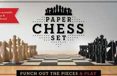 Pop-Up Chess Sets - The Paper Chess Set by Chronicle Books Lets You Take Chess Anywhere