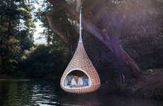 Hanging Bird's Nest Chairs