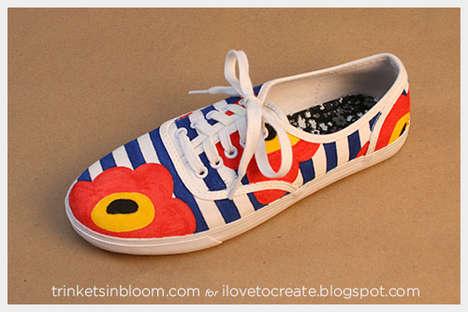 DIY Nautical Floral Sneakers
