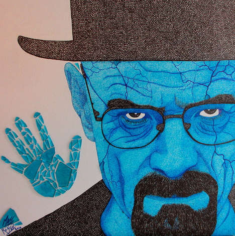 This Breaking Bad Art Boldly Depicts Walter White's Fall From Grace