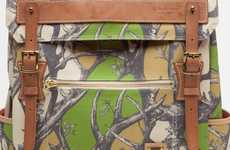 Camo Foliage Rucksacks - Carry Everything with Class with the Master-Piece X Nowartt Backpack