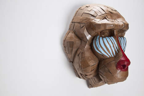 Metaphorical Cardboard Sculptures - Laurence Vallieres Turns Societal Issues into Cardboard Animals