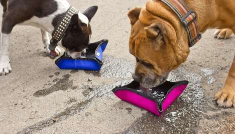Foldable Dog Feeders - Take Time to Fuel Fido on the Go with This Collapsible Pet Bowl